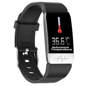 Smartwatch Bakeey T1 com medidor de pressão, eletrocardiograma, temperatura (3 cores) R$99