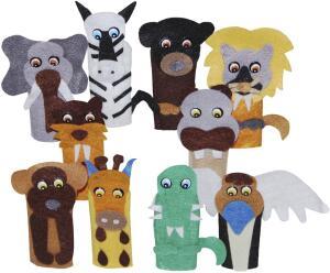 Dedoche Animais Selvagens Feltro 10 Personagens R$ 23