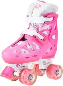 [Prime] Patins Quad 4 Rodas Roller Derby Princess Ajustável Rosa R$ 240