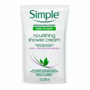 Sabonete Líquido Corporal Simple Nourishing Shower Cream Refil 250ml