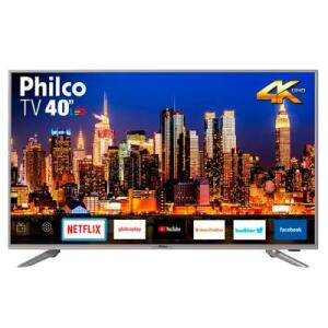 "Smart TV LED 40"" Philco PTV40G50sNS UHD 4K | R$1.138"