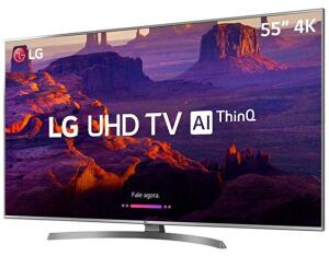 Smart TV LED PRO 55'' Ultra HD 4K LG 55UM761, 4 HDMI, 2 USB Wi-fi Conversor Digital