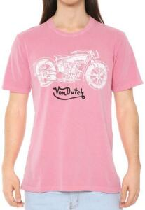 Camiseta Von Dutch Motorcycle Rosa