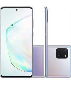 "Smartphone Samsung Galaxy Note 10 Lite 128GB AuraGlow 4G Tela 6.7"" Câmera Tripla 12MP Selfie 32MP Android 10.2"