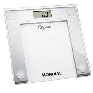 Balança Digital Mondial Ellegance BL-03 em Vidro - Branca | R$44