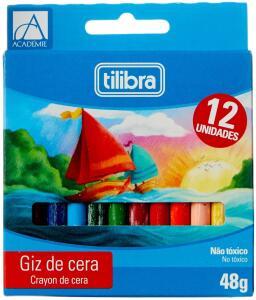 [Prime] Giz de Cera, Tilibra, Académie, 12 Cores R$ 2