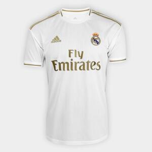 Camisa Real Madrid Home 19/20 s/n° Torcedor Adidas Masculina - Branco r$ 130