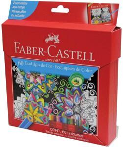 Lápis de Cor, Faber-Castell, EcoLápis, 120160G, 60 Cores | R$67