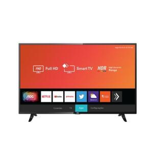 "Smart TV LED AOC 43"" Full HD Xmart HDR 43S5295/78G | R$1.083"