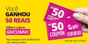 R$50 OFF em compras acima de R$200 na Giv Online