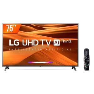 "Smart TV LED 75"" Ultra HD 4K LG 75UM751C PRO 120HZ + Smart Magic   R$5.872"