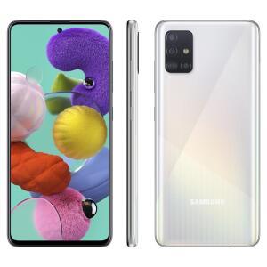 Smartphone Samsung Galaxy A51 128GB Branco 4G - 4GB RAM 6,5' Câm. Quádrupla + Câm. Selfie 32MP