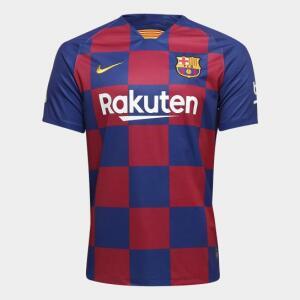 Camisa do Barcelona Home 19/20 s/nº Torcedor Nike Masculina - Azul e Grená