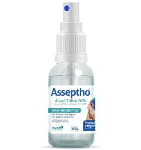 ÁLCOOL 70% ASSEPTHO SPRAY 30ML - R$5