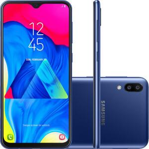 "Galaxy M10 32GB Dual Chip Android 9.0 Tela 6,2"" Octa-Core 4G Câmera 13+5MP - Azul | R$635"