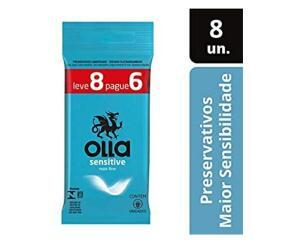 (PRIME) Preservativo Olla Sensitive Leve 8 Pague 6