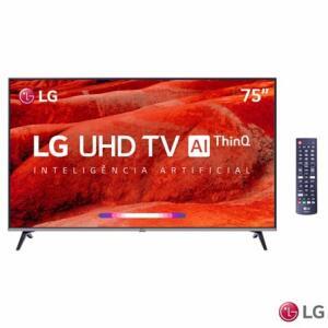 "Smart TV LED 75"" LG 75UM7510 UHD 4K HDR   R$4.999"