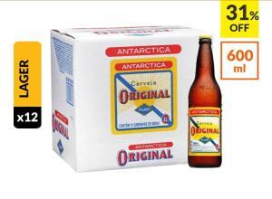 Cerveja Antarctica Original 600ml Caixa (12 Unidades