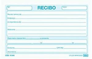 Recibo Comercial Sem Canhoto Pequeno - 50 Folhas,Tilibra - 1 un