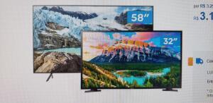 "(Frete Grátis) Smart TV 4K LED 58"" + Smart TV HD LED 32"""