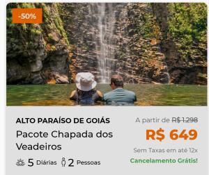 HURB | Pacote Chapada dos Veadeiros 2021 - CASAL | R$649