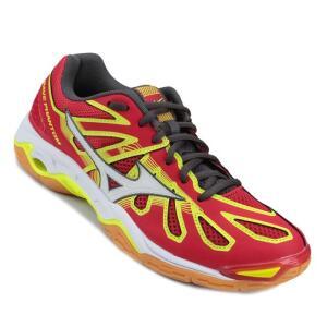 Tênis Mizuno Wave Phantom Masculino - Vermelho e Amarelo | Netshoes