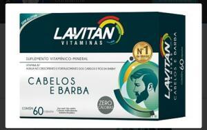 LAVITAN BARBA E CABELO MAIS HAIR MEN QUEDA INTENSA 60 CÁPSULAS