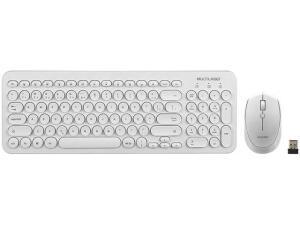 Kit Teclado e Mouse sem Fio Multilaser - TC232 | R$90