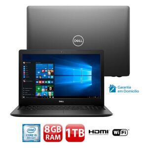 "Notebook Dell Core i5-8265U 8GB 1TB Tela 15.6"" Windows 10 Inspiron I15-3583-A3XP"