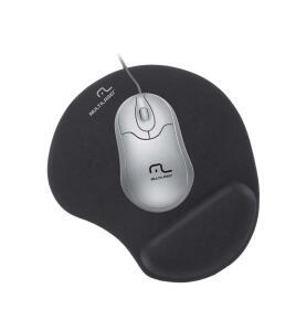 Multilaser AC024 - Mouse Pad com Apoio Gel Grande, Preto