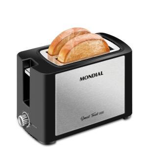 Tostador de Pães Mondial T-13 Smart Toast Inox – 127V - R$59