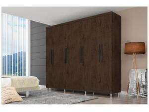 Guarda-roupa Casal 8 Portas 4 Gavetas - Araplac Porto R$ 712