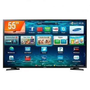"Smart TV LED 55"" Samsung UHD 4K LH55BENELGA/ZD | R$21.804"