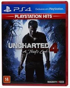 Uncharted 4 (Playstation Hits) Midia Fisica (Amazon) Frete Prime - R$56