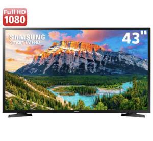 "Smart TV LED 43"" Full HD Samsung 43J5290   R$1259"
