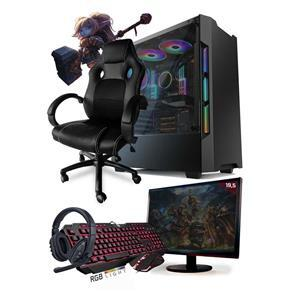 PC Gamer Completo Neologic Start NLI81450 Ryzen 3 2200G 8GB SSD 240GB + Cadeira Gamer | R$2947