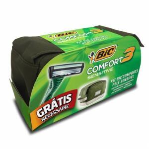 Kit 4 Aparelhos Descartaveis Bic Comfort Sensitive Gts Necesseire
