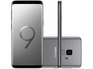 "Smartphone Samsung Galaxy S9 128GB Cinza 4G-4GB RAM Tela 5.8"" Câm. 12MP + Câm. Selfie 8MP"