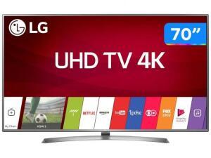 "Smart TV 4K LED 70"" LG 70UJ6585 Wi-Fi HDR - 4 HDMI 2 USB R$ 3799"