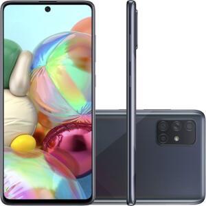 (CARTÃO SHOPTIME+AME=R$1532,88) Smartphone Samsung Galaxy A71 - Preto