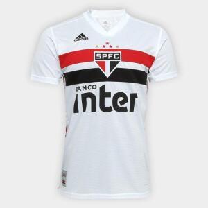 Camisa São Paulo I 19/20 s/n° Torcedor Adidas Masculina - Branco e Vermelho