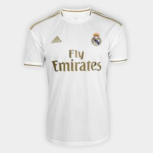 Camisa Real Madrid Home 19/20 s/n° Torcedor Adidas Masculina - Branco