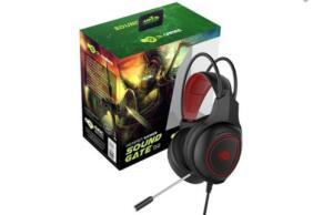 Headset Gamer DL Games SoundGate D2, LED Vermelho, Drivers 40mm - FG252PRE