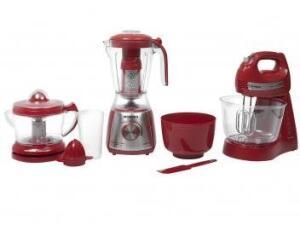 Kit Gourmet Red Premium Mondial - com Liquidificador + Batedeira + Espremedor