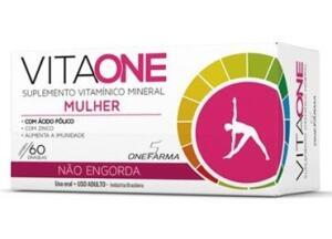 Vitaone Mulher Com 60 Comprimidos Revestidos Não Engorda | R$6