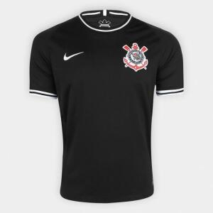Camisa Corinthians II 19/20 s/nº Torcedor Nike Masculina - Preto e Branco R$99