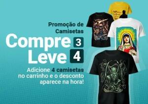 Camisetas Jovem Nerd - Leve 4 pague 3