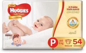 Huggies Fralda Soft Touch Mega P, 54 Fraldas | R$30