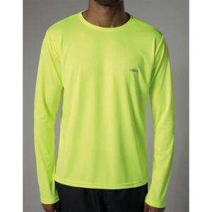 Camiseta Olympikus Essential Manga Longa Masculina - Verde Limão