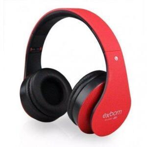 Headphone Bluetooth Exbom HF-400BT Vermelho
